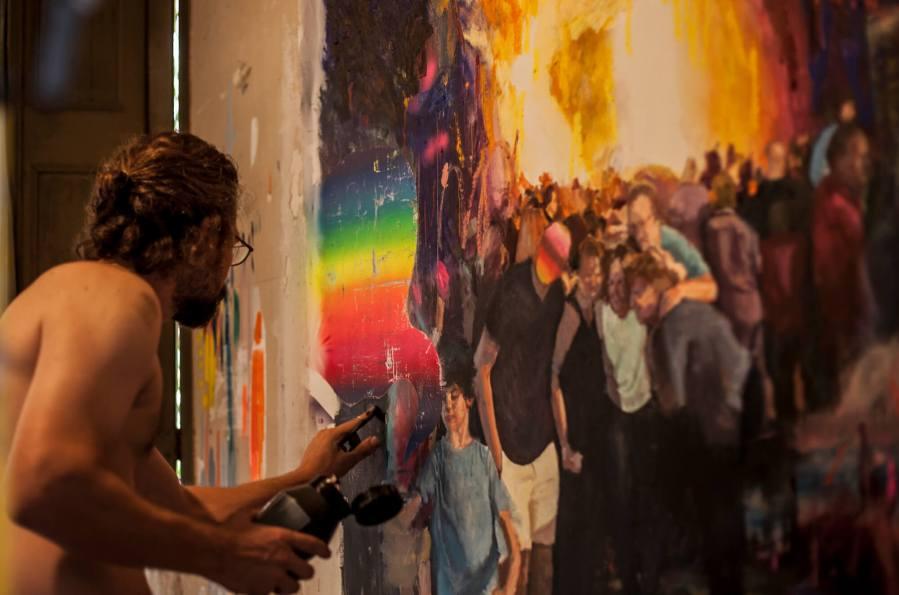 Mister Kern and Seleka Collaboration Studio works Photo Credit Vinny Cornelli : Streetlayers.