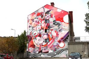 How&Nosm, UPEA Street Art Festival, Finland 2018. Photo Credit Tommi Korpihalla