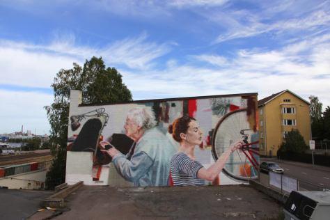 Helen Bur, UPEA Street Art Festival, Finland 2018.