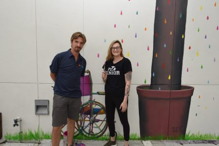 Nicklaus Children's Hospital Foundation, along with donors Goldman Global Arts and Jessica Goldman Srebnick, unveiled a five-story mural painted at Nicklaus Children's Hospital by world-renowned French street artist, Seth Globepainter.