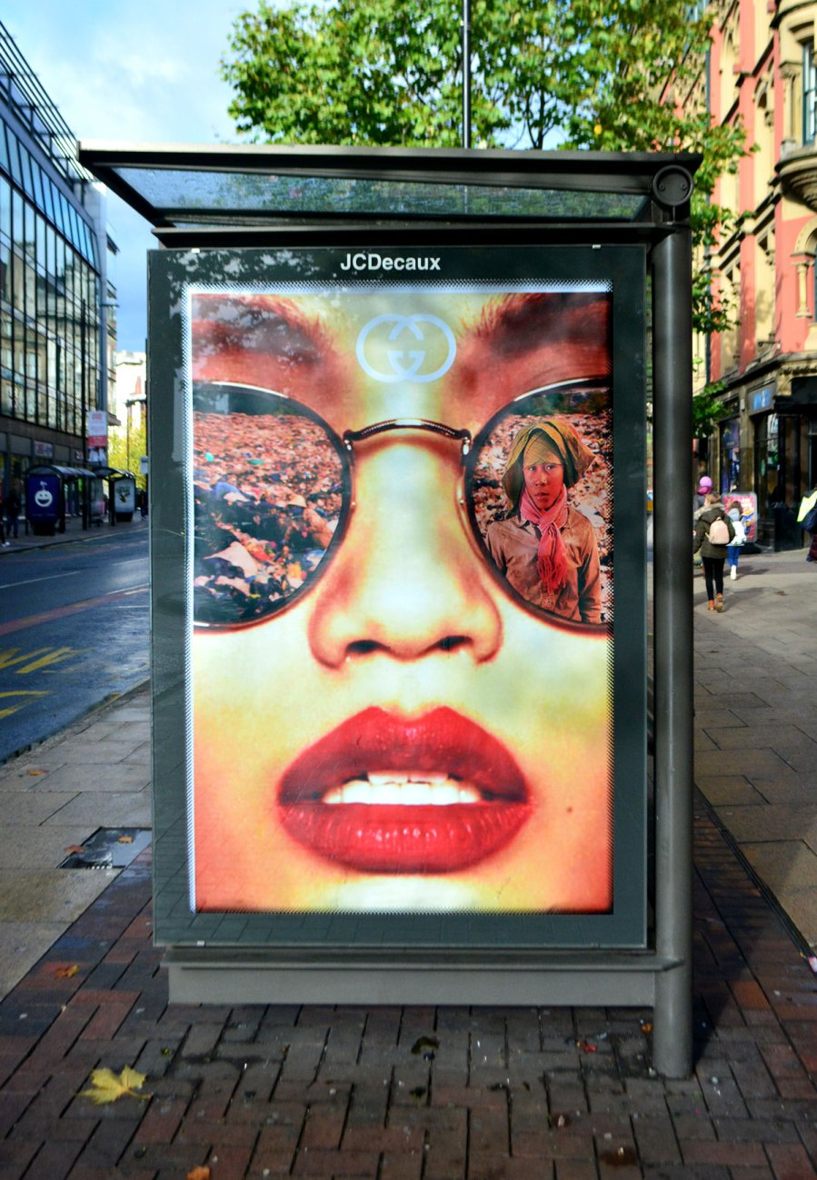 Bill Posters, Gucci , Waste World, Black Friday 2018. Photo Credit Bill Posters