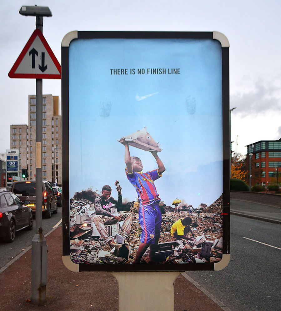 Bill Posters, Nike, Waste World, Black Friday 2018. Photo Credit Bill Posters