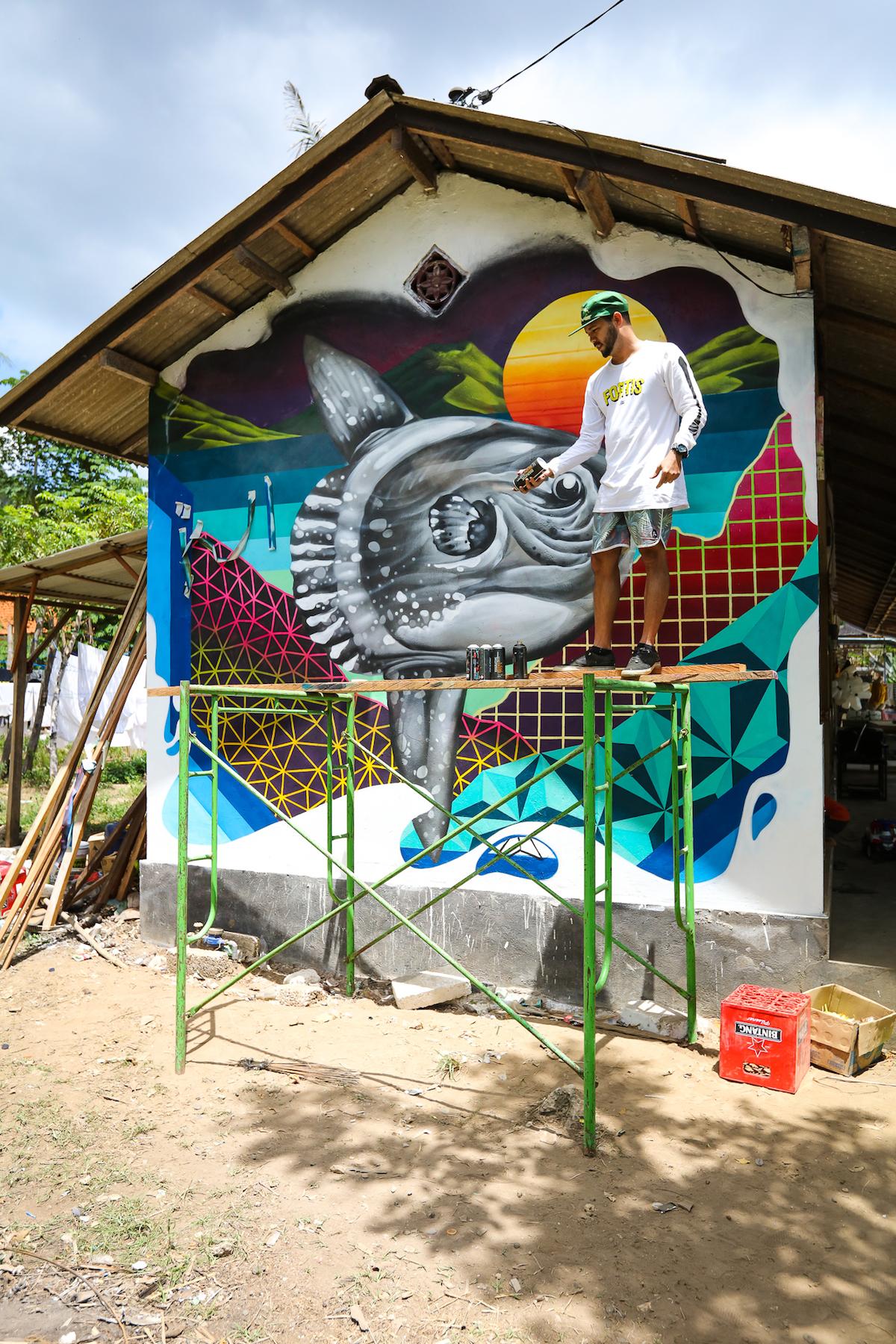 Egg fiasco sea walls murals for oceans bali