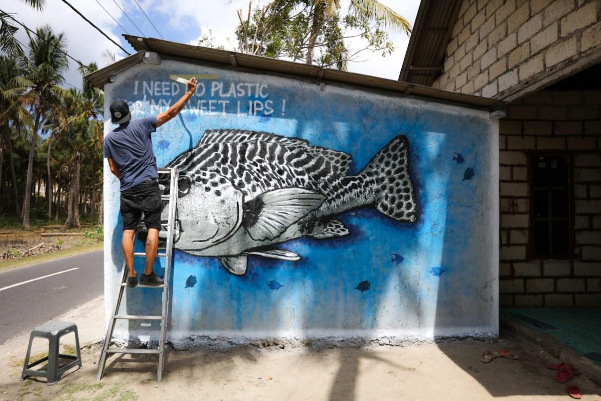 Quint sea walls murals for oceans bali 2018