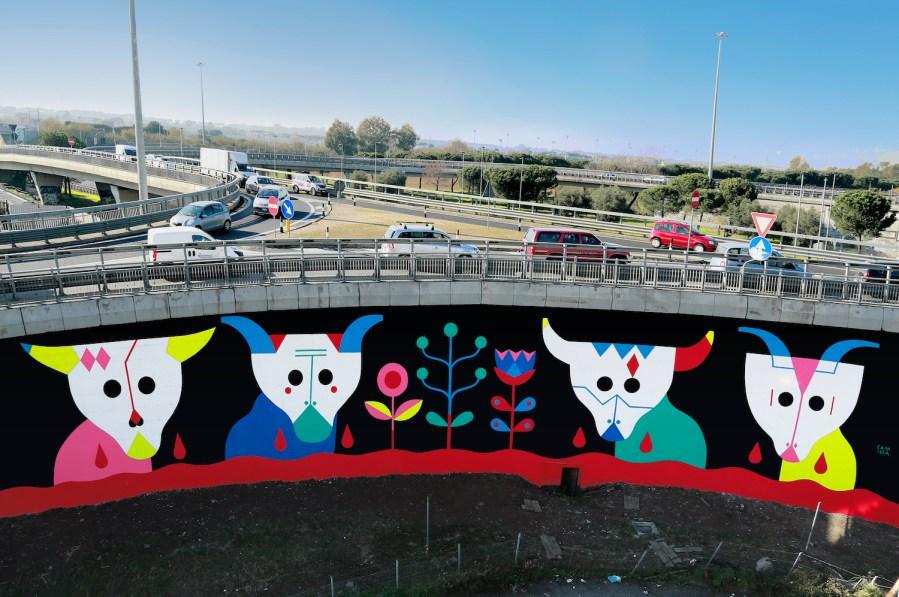 GRAArt-street-art-mural-Grande-Raccordo-Anulare-ROME-Camilla Falsini_la-VitaelaMorte