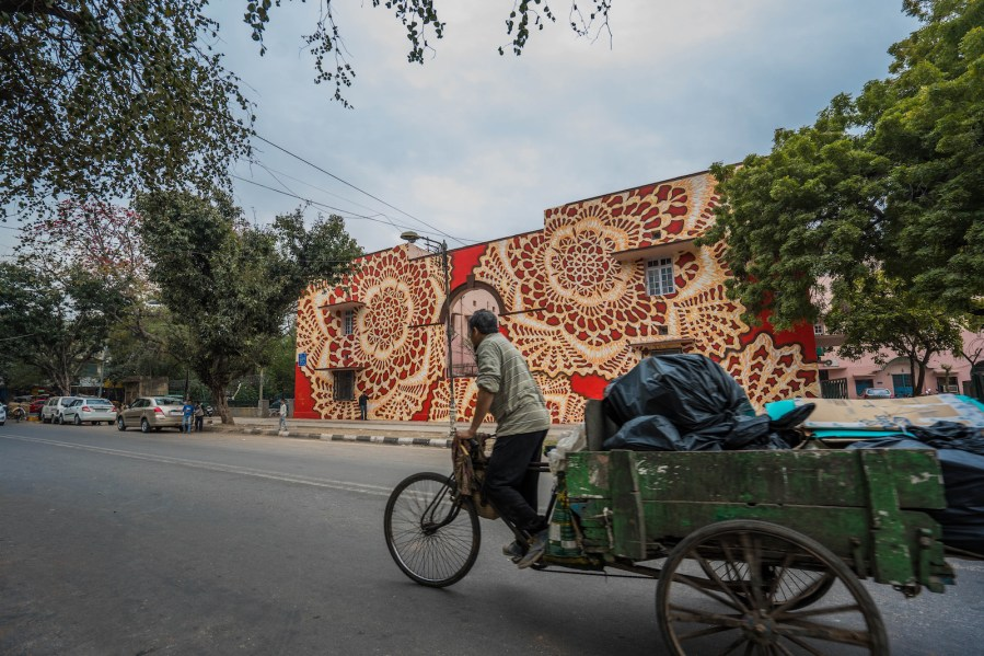 NesPoon, Lodhi Art Festival, Delhi 2019. Photo credit Pranav Gohil