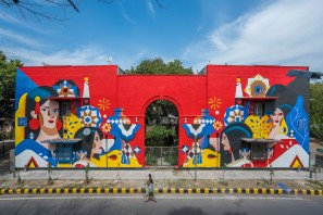 Sajid Wajid, Lodhi Art Festival, Delhi 2019. Photo credit Pranav Gohil