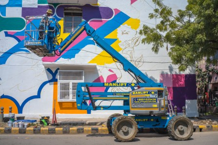 Yoh Nagao, Lodhi Art Festival, Delhi 2019. Photo credit Akshat
