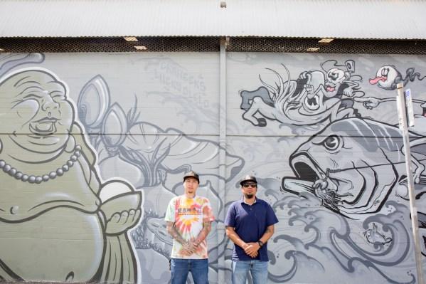Lucky Olelo and Ckaweeks, POW! WOW! Hawaii 2019. Photo Credit Ianny catches walls