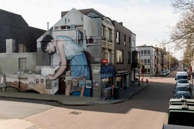 Mohamed L'Ghacham, The Crystal Ship Street Art Festival, Ostend, Belgium 2019. Photo Credit Henrik Haven