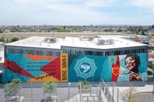 Shepard Fairey, Maya Angelou Mural Festival, Los Angeles 2019. Photo Credit Static Medium