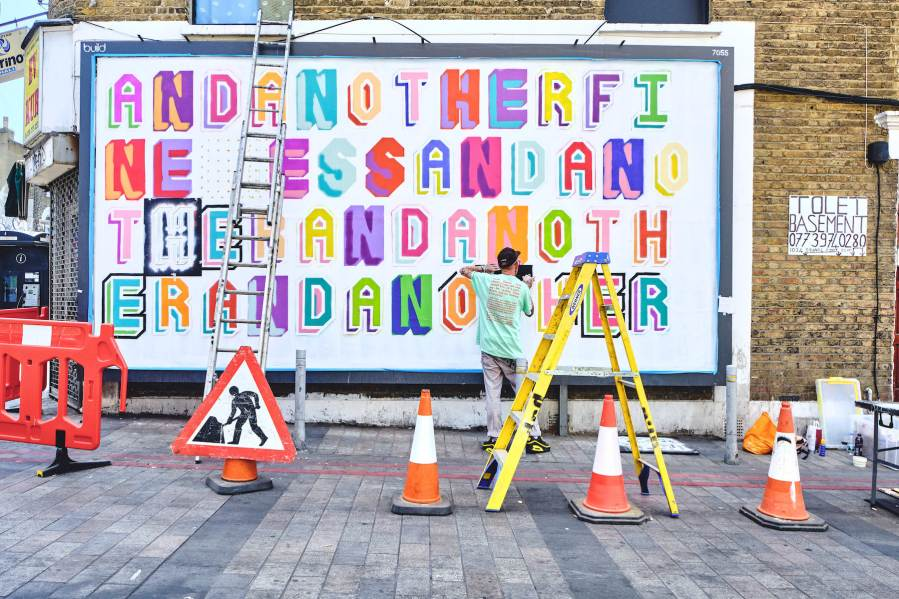 Ben Eine 'and another fine mess / I'm happy very very happy' LONDON 2020. Photo Credit Jack arts