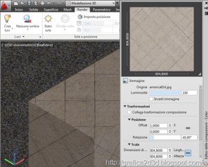 Tutorial autocad 2012 : materiali , luci , render p.1.15