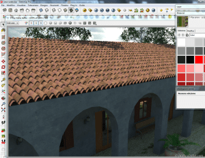 Tutorial tegole tetto displace vray sketchup 01