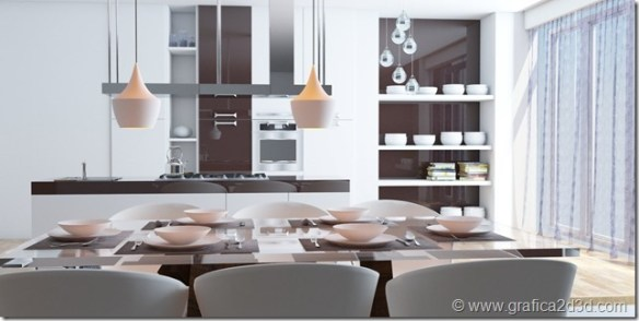 Kitchen 45 vray sketchup