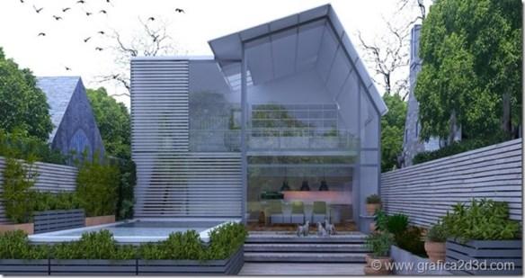 HDRI exterior vray sketchup scene#018