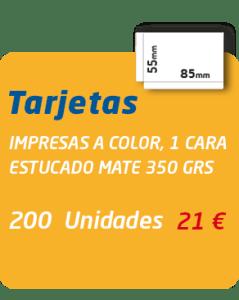 Graficas Mundo - Oferta 200 tarjetas visita 21 €