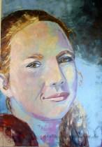 Portrait-junge-Frau-70-x-100