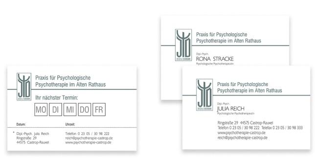 terminkarten, visitenkarten, business cards, corporate design, corporate id, gestaltung, druck, print, offsetdruck, waldbrand media
