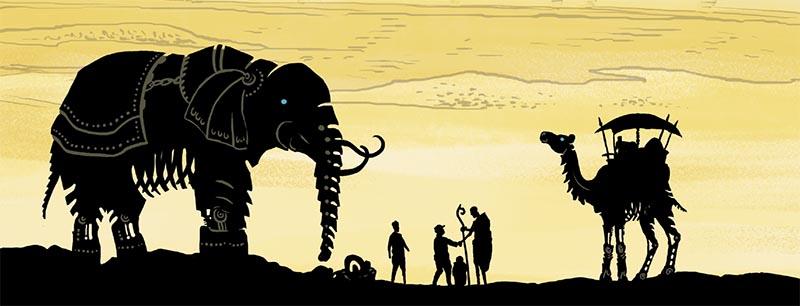 robots contra nazis en el desierto de africa. SESIERTO DE METAL. Un cómic fuera de lo común,