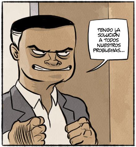 Manolo Terroba de Vellón. Autentico politico cabrón en el cómic CHORIZOS ATRACO A LA ESPAÑOLA