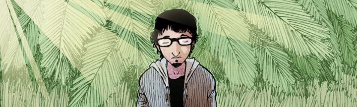 Victor Araque, con su cómic BUKSON, es uno de los dibujantes de Grafito Editorial.