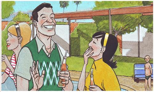 Roy Wensley, jugador de baloncesto y pretendiente de Alice. Cazador de sonrisas.