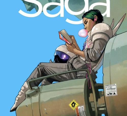 Portada de Fiona Staples para el cómic Saga