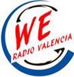 logo de WE radio , emisora valenciana