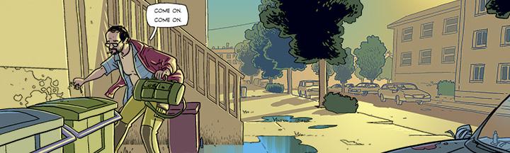 rob williams es el guionista de ordinary, comic publicado por grafito editorial en el que todo el mundo adquiere superpoderes menos su protagonista