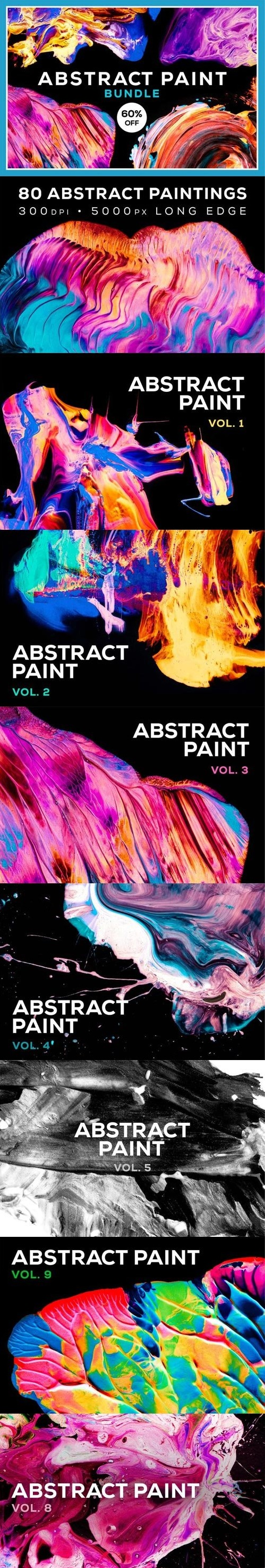 Abstract Paint Bundle