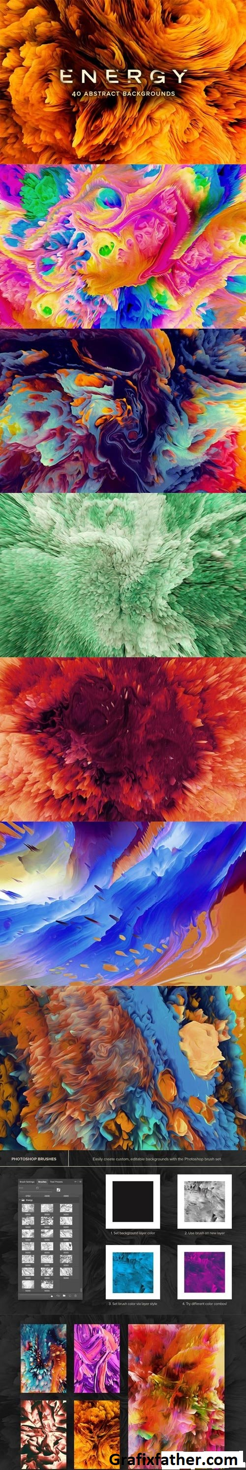 Energy 40 Abstract Backgrounds Cover