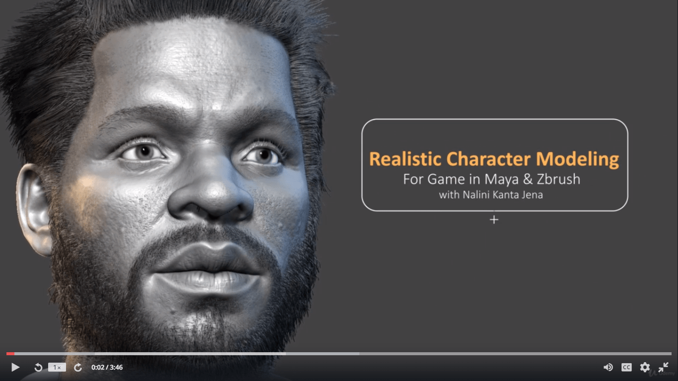 Download] Realistic Character Modeling For Game In Maya and