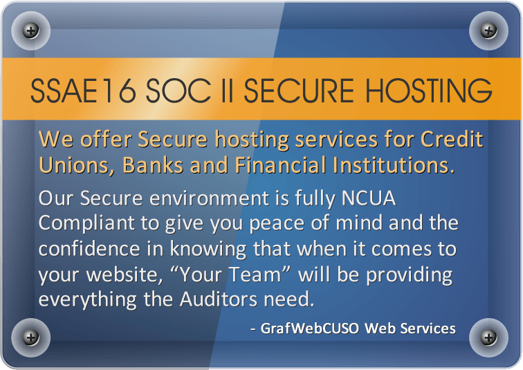 SSAE16 SOC2 Secure Hosting for Credit Unions