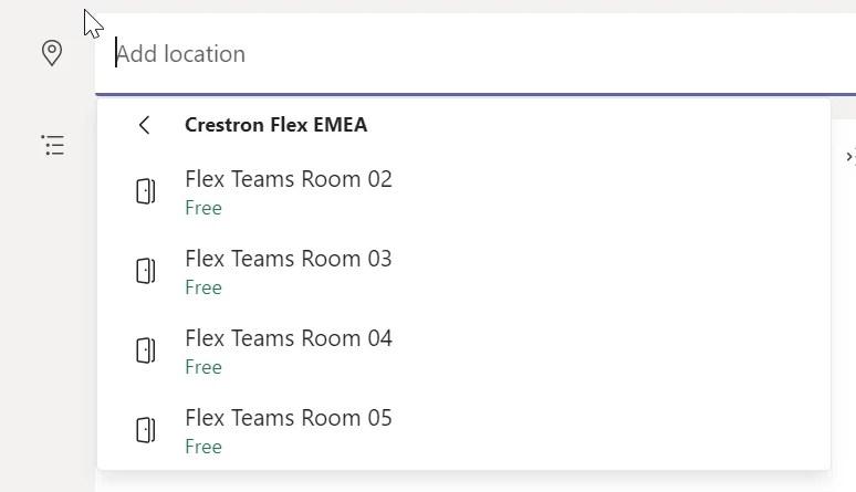 Exchange Room List