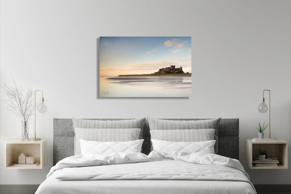 Footsteps on Bamburgh Castle Beach Wall canvas