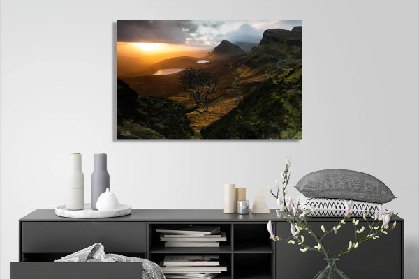 Forced Aura Quiraing lone tree sunrise Canvas on Wall