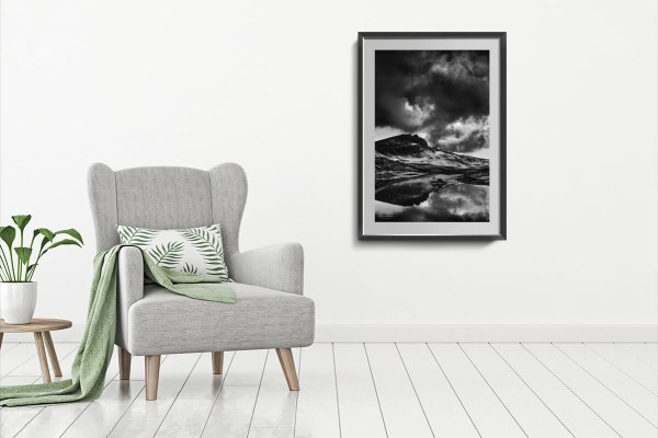 Storm over Storr framed print