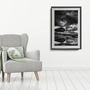 Storm over Storr framed print