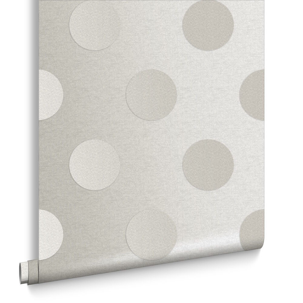 White Wallpaper   Plain  Glitter   Pure White Wallpapers   Graham     Polka Diamond Bead Wallpaper