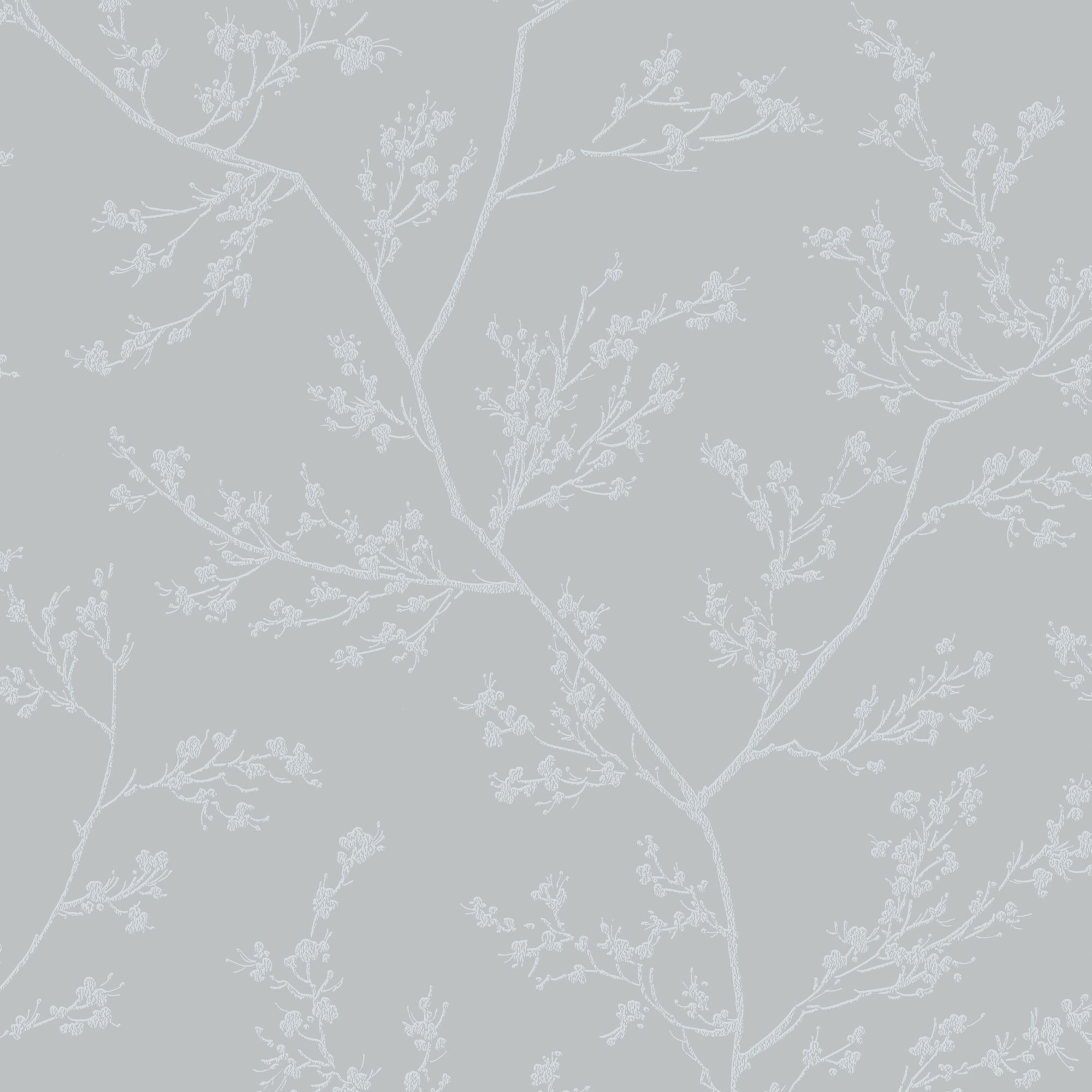 Springtime Grey And Silver Wallpaper Graham Amp Brown