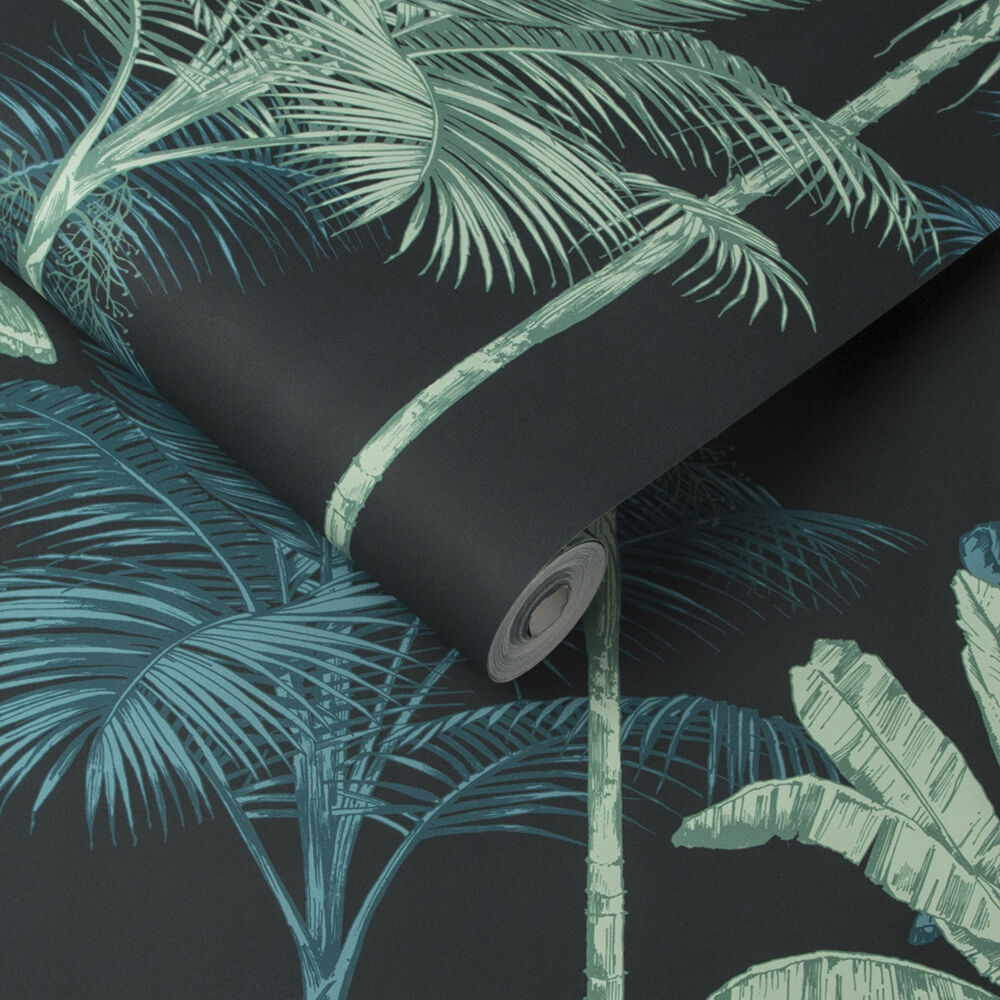 Jungle Mood Green Wallpaper Black Wallpaper Graham Brown