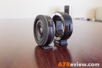 Metabones EF adapter compared to Canon 40mm 2.8 angle