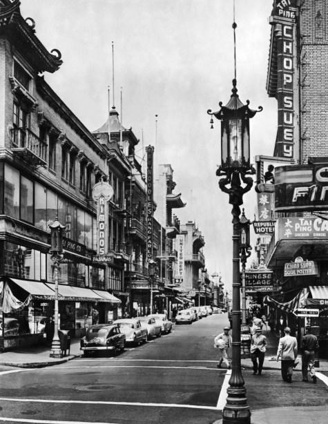 San Francisco Chinatown Black and White 1950