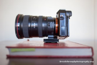 Sony A7R with Canon EF 17-40mm L balanced