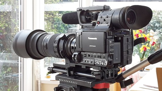 Panasonic AG AF101 with Metabones adapter