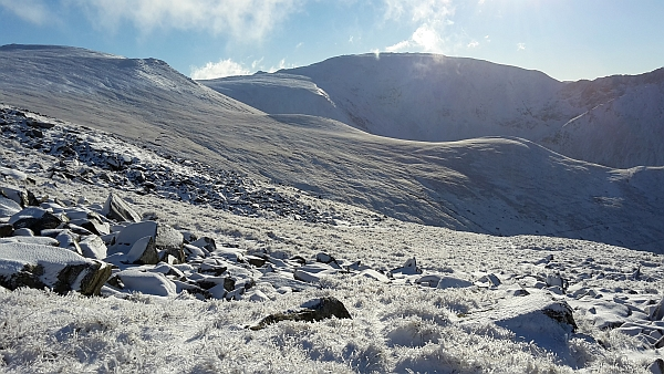 filming on the Carneddau