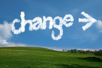 Change written in the clouds