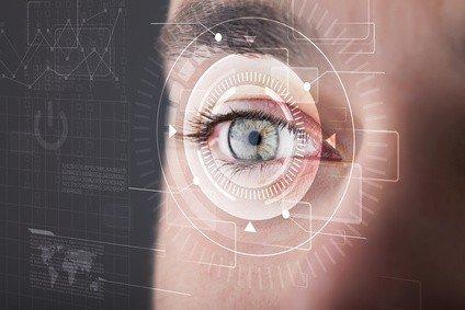 Eye focused on technology