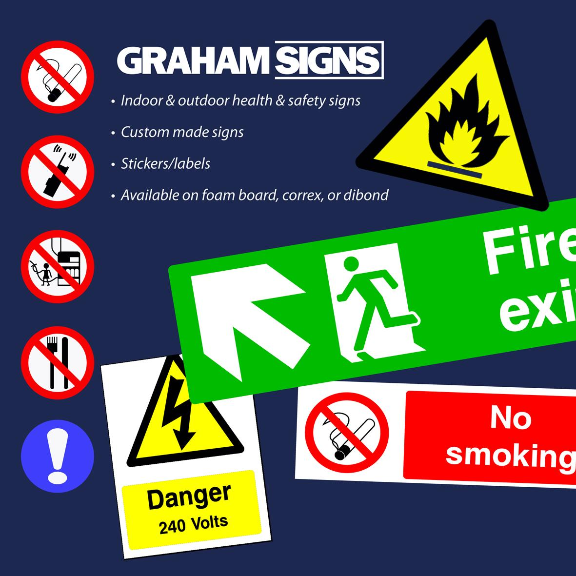 Health And Safety Signs In Worcestershire Herefordshire